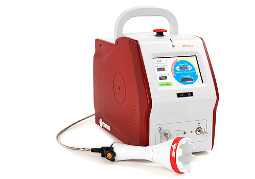 This therapeutic laser is used in physical rehabilitation for pets.
